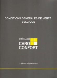 Télécharger les conditions générales de vente Belgique