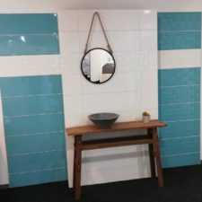 Salle de bains bleu - Showroom Arlon